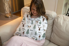 Load image into Gallery viewer, Woodland Personalized Car Seat Cover, Forest Nursing Cover - Enchanted Forest