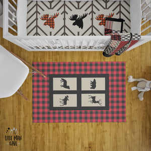 Into the Wood Plaid Rug, Lumberjack Nursery Decor