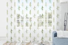 Load image into Gallery viewer, Trees Curtain Blackout or Sheer, Forest Nursery Decor - Cabin Story ref8