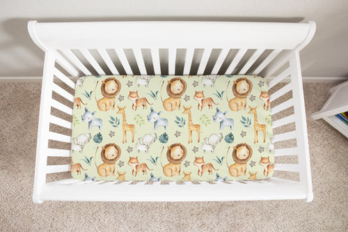 Baby Africa Minky Crib Sheet, Safari Nursery Bedding