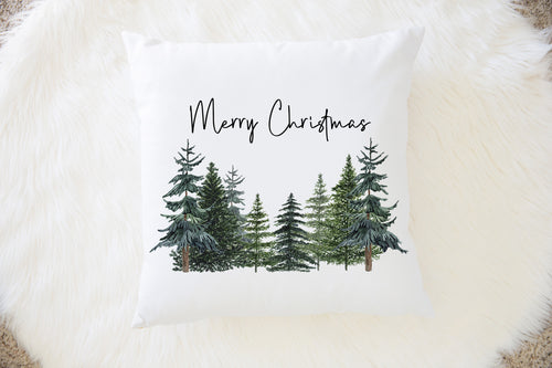 Christmas Pine Trees Pillow, Forest Room Decor - The Forest