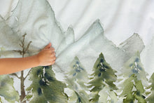 Load image into Gallery viewer, Forest Personalized Minky Blanket, Woodland Nursery Bedding - Wild Green