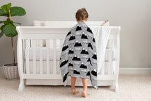 Load image into Gallery viewer, Mountains and Arrows Personalized Minky Blanket, Outdoors Nursery Bedding