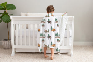 Woodland Minky Blanket, Forest Nursery Bedding - Little Explorer