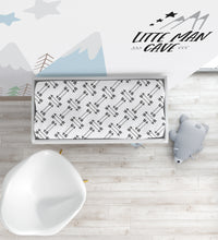 Load image into Gallery viewer, Black Arrows Changing Pad Cover, Rustic Nursery Bedding