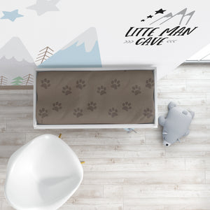 Brown Paws Changing Pad Cover, Camper Nursery Bedding