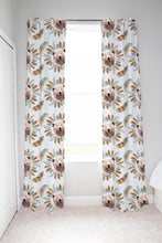 Load image into Gallery viewer, Tribal - BohoGrizzly Bear Face Curtains, Woodland Nursery Decor