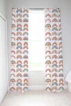 Load image into Gallery viewer, Be A Kind Rainbow  Curtains, Rainbow Nursery Decor