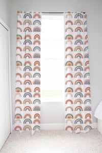 Be A Kind Rainbow  Curtains, Rainbow Nursery Decor