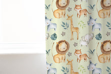 Load image into Gallery viewer, Baby Africa Curtain, Safari Nursery Decor