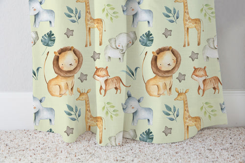 Baby Africa Curtain, Safari Nursery Decor