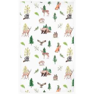 Wildlife Curtain, Woodland Nursery Decor