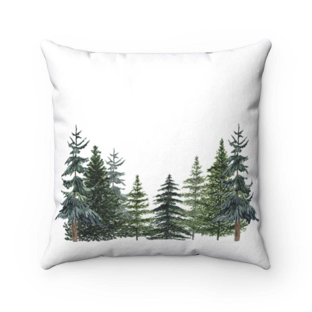 Pine Tress Pillow, Forest Nursery Decor - The Forest