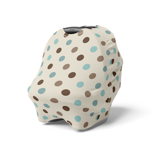 Arctic Blue Dots Car Seat Cover, Ethnic Nursing Cover