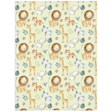 Load image into Gallery viewer, Baby Africa Minky Blanket, Safari Nursery Bedding