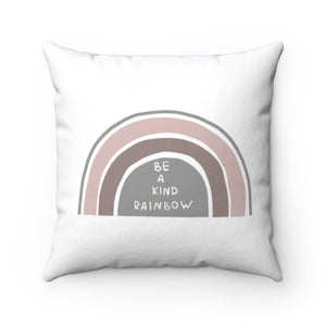 Be A Kind Rainbow Pillow, Rainbows Nursery Decor