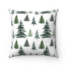 Load image into Gallery viewer, Pine Trees Personalized Pillow, Woodland Nursery Decor - The Forest