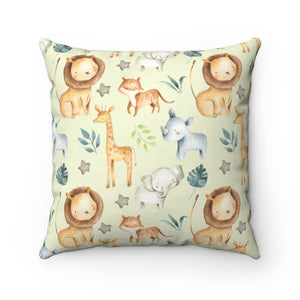 Baby Africa Dream Big Elephant Pillow, Safari Nursery Decor