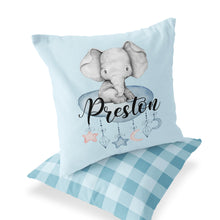 Load image into Gallery viewer, Peanut Personalized Pillow, Elephant Nursery Decor