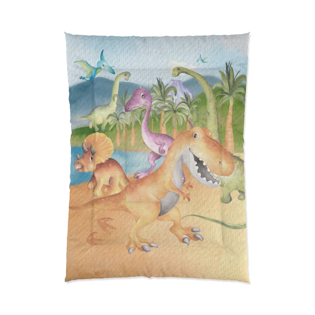 Big Friends Dinosaur Comforter Set, Dinosaur Kids Bedding