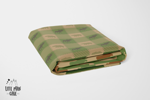 Green Patchwork Lumberjack Crib Sheet, Rustic Baby Bedding