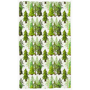 Into The Woods Coniferous Trees Curtain, Forest Nursery Decor