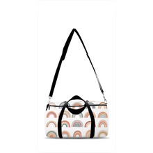 Load image into Gallery viewer, Be A Kind Rainbow  Duffle Bag, Rainbow Overnight Bag