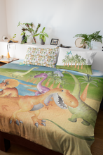 Load image into Gallery viewer, Big Friends Dinosaur Comforter Set, Dinosaur Kids Bedding