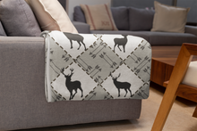 Load image into Gallery viewer, Black Deer and Arrows Minky Blanket, Rustic Nursery Bedding