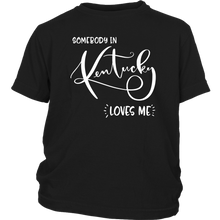 Load image into Gallery viewer, Somebody in Kentucky loves me shirt, Home State Kids Clothes