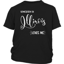 Load image into Gallery viewer, Somebody in Illinois loves me shirt, Home State Kids Clothes
