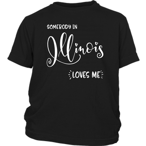 Somebody in Illinois loves me shirt, Home State Kids Clothes