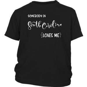 Somebody in South Carolina loves me shirt, Home State Kids Clothes