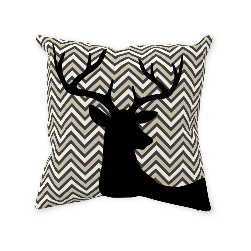 Deer Chevron Throw Pillows, Forest Room Decor