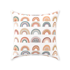 Rainbow Personalized Pillow, Rainbow Nursery Decor - Be A Kind Rainbow