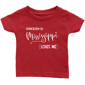 Somebody in Mississippi loves me shirt, Home State Kids Clothes