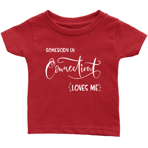 Somebody in Connecticut loves me shirt, Home State Kids Clothes