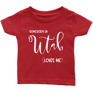 Somebody in Utah loves me shirt, Home State Kids Clothes