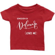 Load image into Gallery viewer, Somebody in Delaware loves me shirt, Home State Kids Clothes