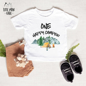 Little Explorer ONE Happy Camper Shirt, Camping First Birthday Clothes