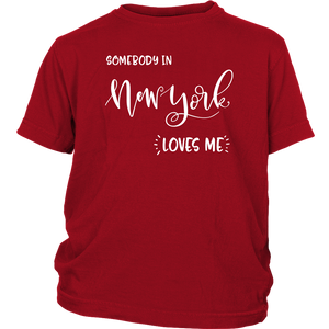 Somebody in New York loves me shirt, Home State Kids Clothes