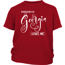 Load image into Gallery viewer, Somebody in Georgia loves me shirt, Home State Kids Clothes