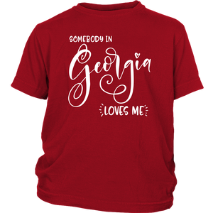 Somebody in Georgia loves me shirt, Home State Kids Clothes