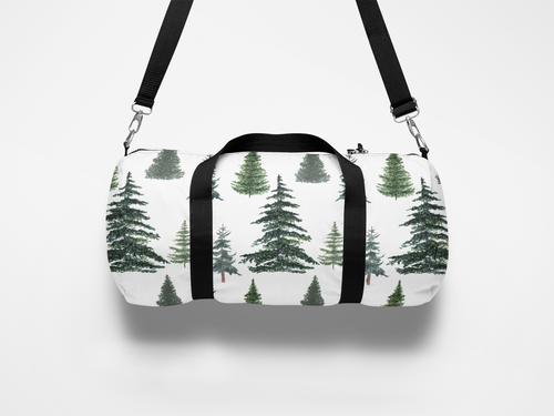 Pine Trees Duffle Bag, Woodland Overnight Bag - The Forest