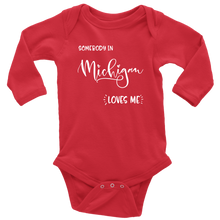 Load image into Gallery viewer, Somebody in Michigan loves me shirt, Home State Kids Clothes