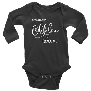 Somebody in Oklahoma loves me shirt, Home State Kids Clothes