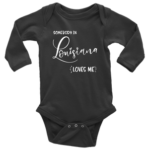 Somebody in Lousiana loves me shirt, Home State Kids Clothes