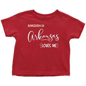 Somebody in Arkansas loves me shirt, Home State Kids Clothes