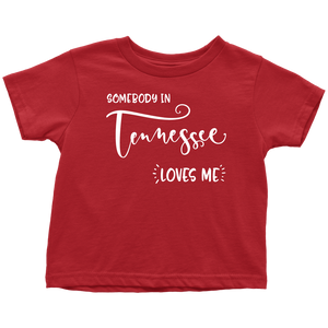 Somebody in Tennessee loves me shirt, Home State Kids Clothes