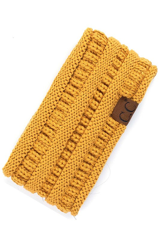 Mustard Colored CC Brand Ribbed Headwrap